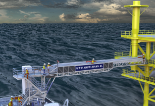Ampelmann partners with Seaqualize to develop S-type gangway
