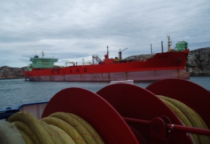 Crude Oil Carrier in Brofjordens Crude Oil Harbour