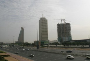 Etisalat Tower 2 Dubai World Trade Centre and Dubai World Trade Centre Residence on 2 March 2007