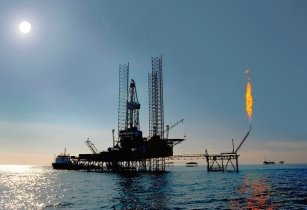 Jack up rig in the caspian sea