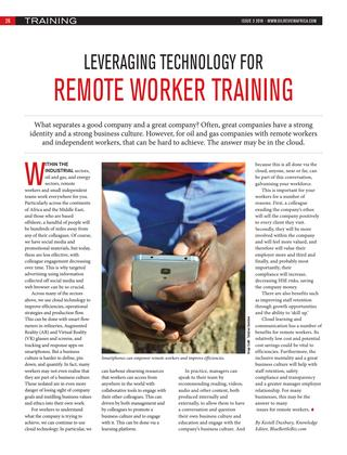 Leveraging technology for remote worker training